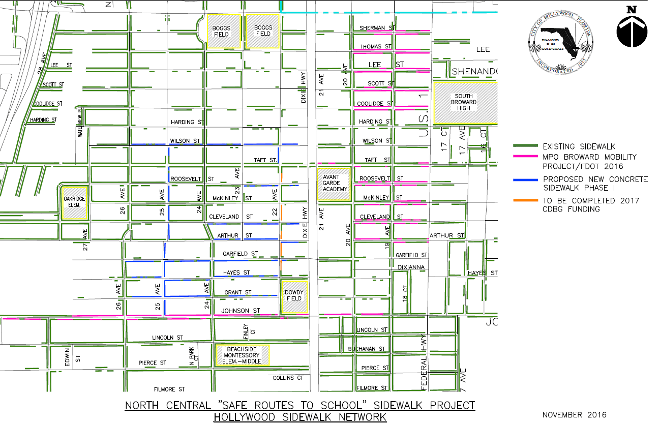 Safe Route to School Sidewalk Map