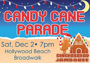 Candy Cane Parade on Hollywood Beach