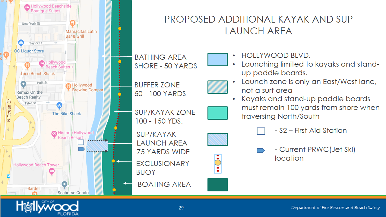Proposed Additional Kayak and SUP Launch Areas