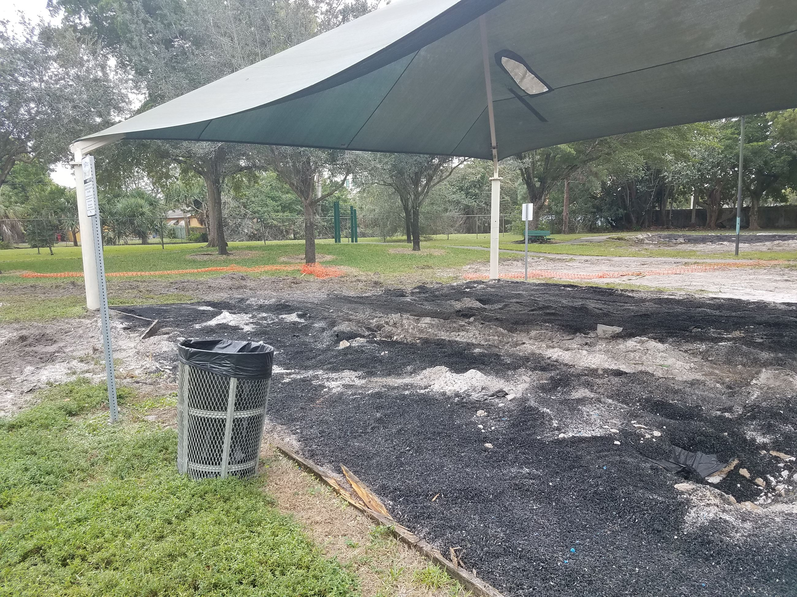 playground removed from under canopy