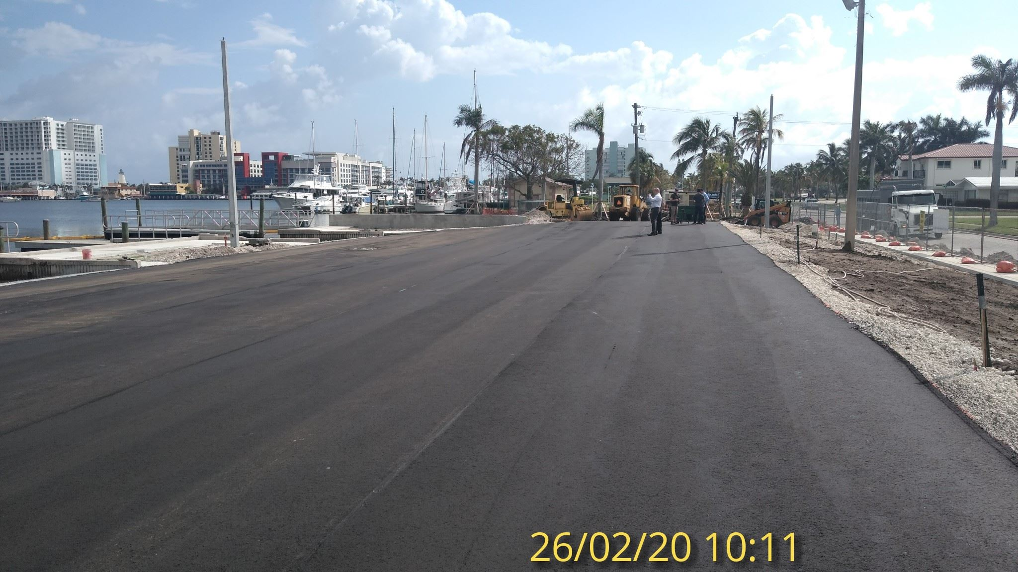 first asphalt layer looking E 2/26/20