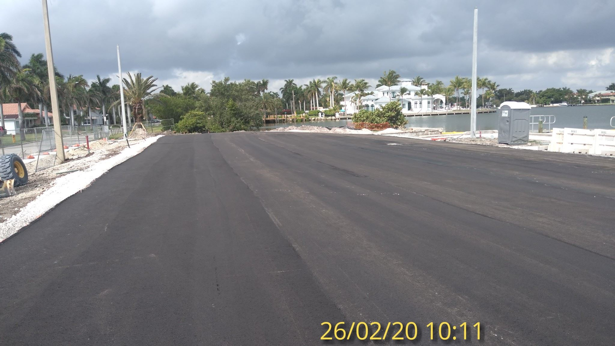 first asphalt layer looking W 2/26/20