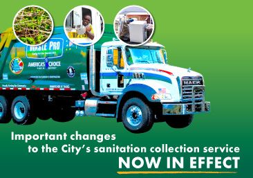Changes to sanitation collections take effect October 1, 2020