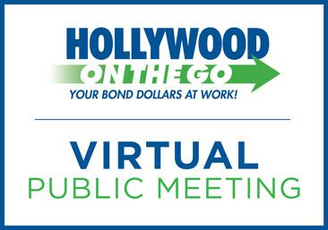 Hollywood on the GO logo. Playground Improvement Virtual Community Meeting.
