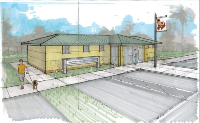 Hollywoof Pet Rescue Center rendering