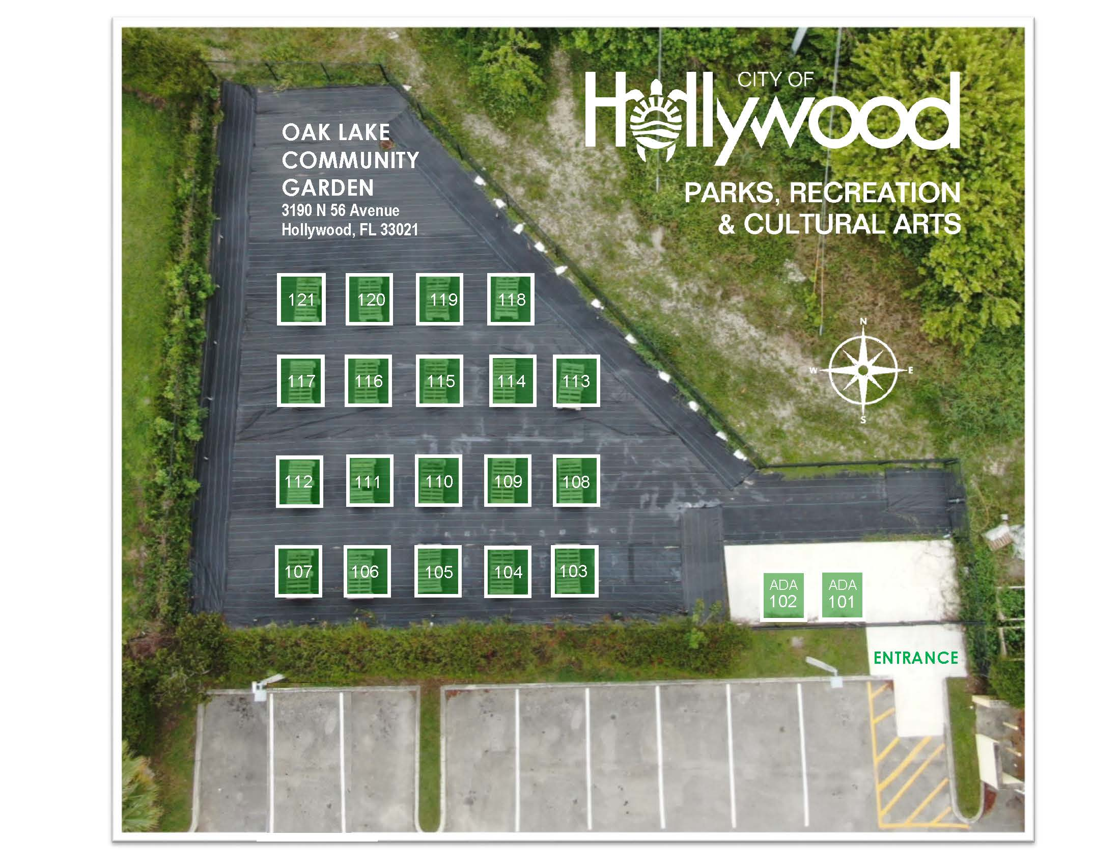 Oaklake Community Garden Plot Layout
