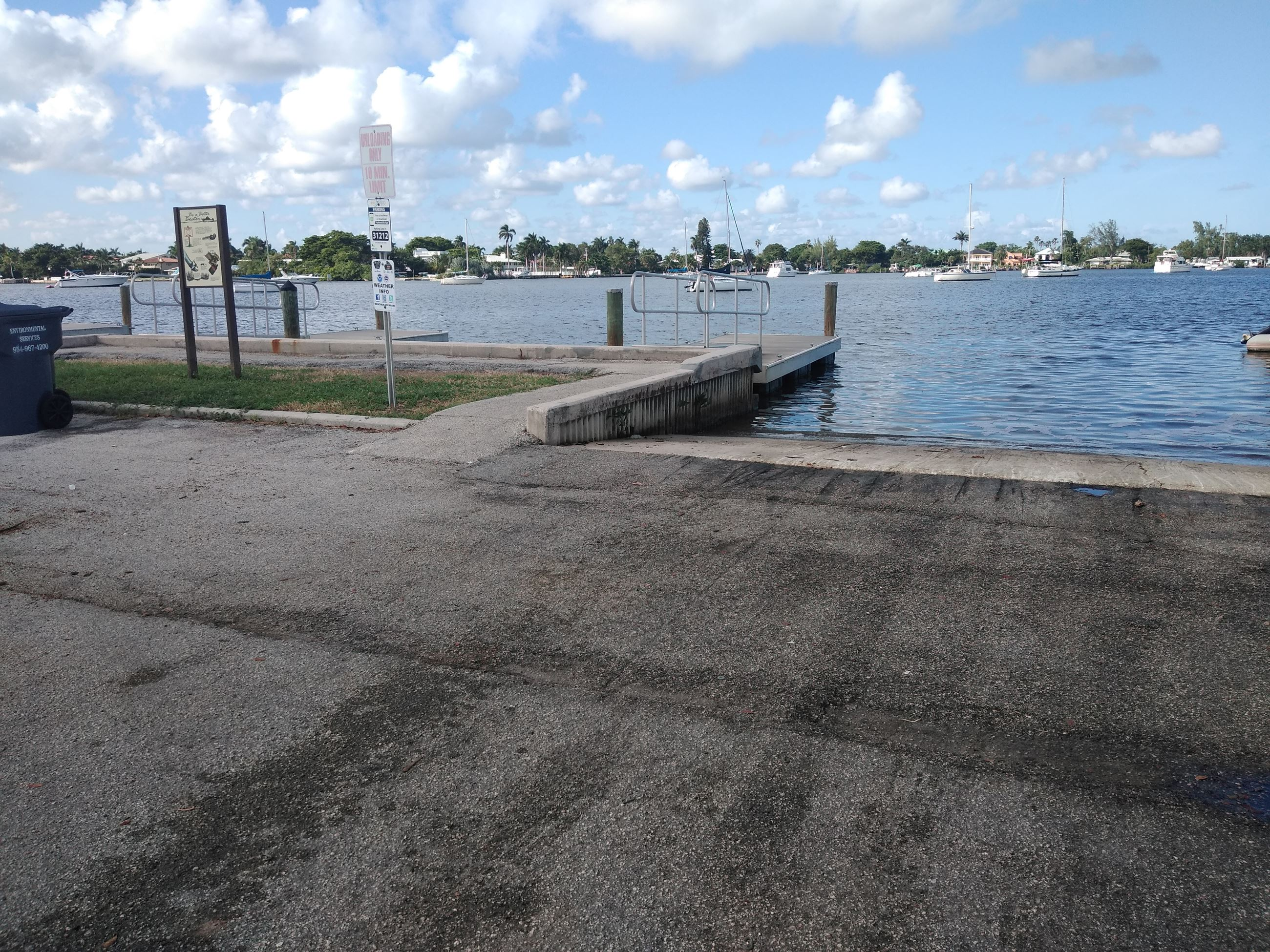Polk Street Boat Ramp under construction