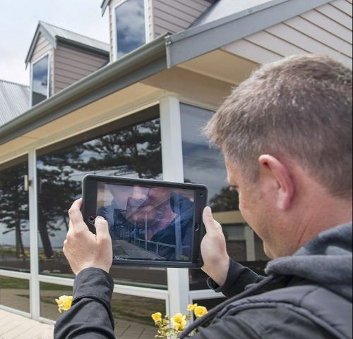 Virtual building inspection with iPad